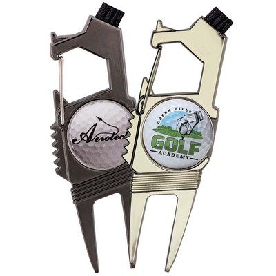 Golf n' Brew 2-Prong Divot Repair Multi-Tool